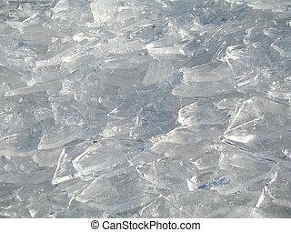 background made of fragments of ice
