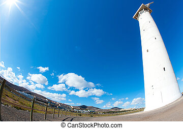 lighthouse with the sea in the background on Fuerteventura -...