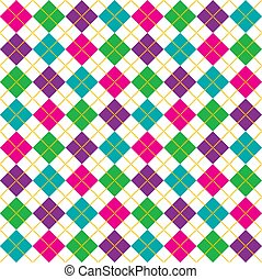 Bright Argyle Pattern - Brightly colored background...