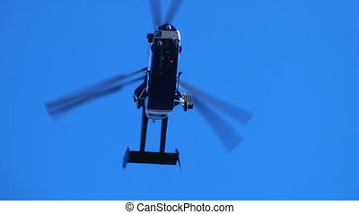 HD - Helicopter in the sky_bottom view