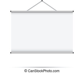 Blank roll up poster