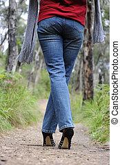 High heel legs outdoor