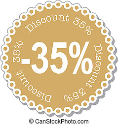 Discount thirty five percent - illustration stickers for...
