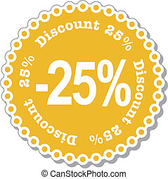 Discount twenty five percent - illustration stickers for...