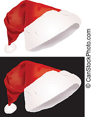 Christmas hat, vector illustration isolated on white and...