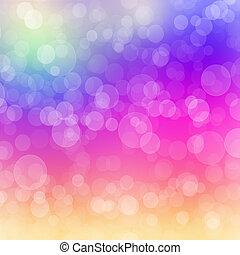 Bokeh pattern rainbow - Rainbow coloured bokeh pattern