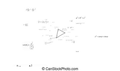 Mathematical formulas_white background
