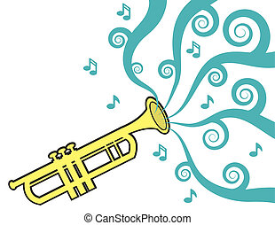 Trumpet Playing Music