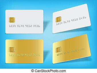 Blank chip card - Clean blak bank-card sample