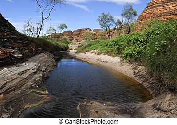 Bungle Bungles Purnululu Australia - Water hole in the...