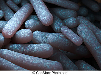 Escherichia Coli - rendering of an Escherichia Coli bacteria