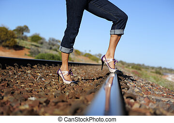 Sexy lady outback Australia - Sexy legs of a woman standing...