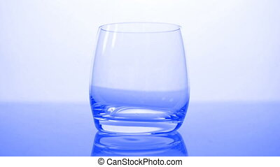 HD - Glass of blue water_front view