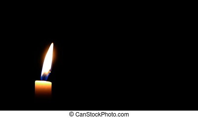 HD - Candle with black background