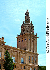 Placa De Ispania, the Nation Museum in Barcelona. Spain