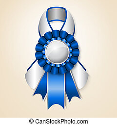Vecor prize ribbon - Blue vector prize ribbon with place for...