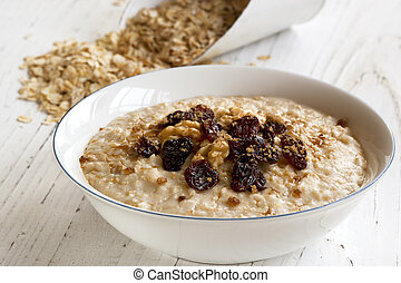 Porridge with Walnuts and Raisings - Porridge with walnuts,...
