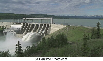 Ghost Dam w 04 - Hydroelectric Dam and spillway