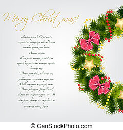 Realistic christmas wreath. vector illustration
