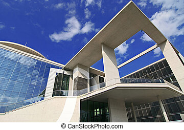 Bundeskanzleramt - Berlin Mitte: a wide angle view of the...