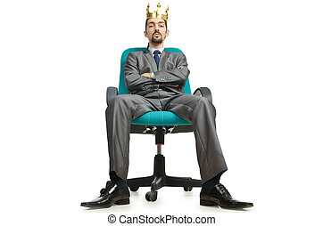 Man king sitting on the chair