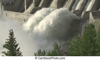 Ghost Dam 01 - Hydroelectric Dam and spillway