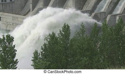 Ghost Dam 05 - Hydroelectric Dam and spillway