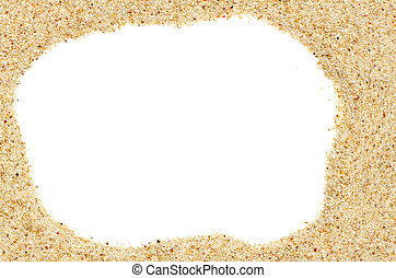 Beach sand frame with copy-space on center.