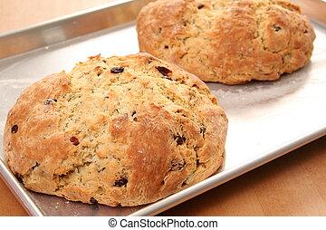 Freshly Baked Bread - Two loaves of freshly baked Irish Soda...