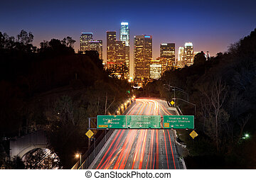 Lons Angeles city - Downtown Los Angeles at night.