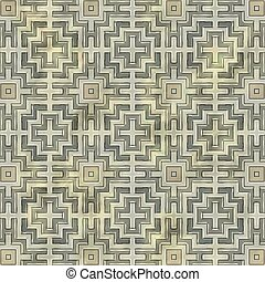 Ancient mosaic floor. Seamless texture.