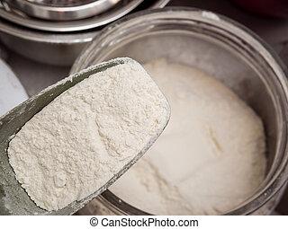 Scoop of flour