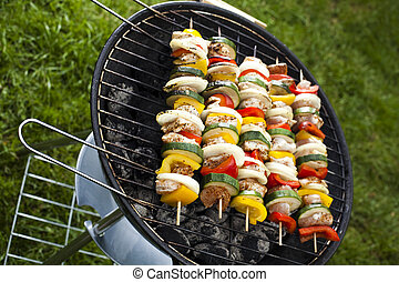 Grilling at summer weekend