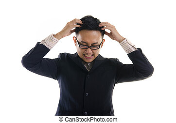 asian business man frustrated
