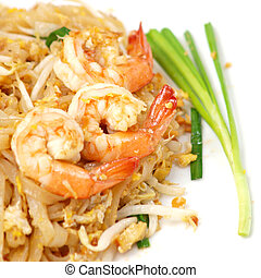 Thai food style , stir-fried rice noodles Pad Thai