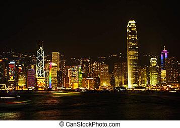 Hong Kong Skylight at dusk landscape The Symphony Of Light Cityscape