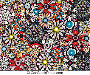 Flower power - Background editable vector illustration of...