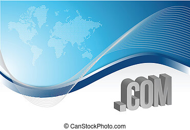 internet blue background illustration design