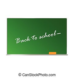 school board with message on it vector illustration