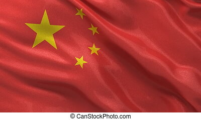 Seamless loop of Chinese Flag