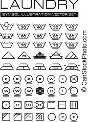 Laundry Symbols Collection - Complete International Laundry...