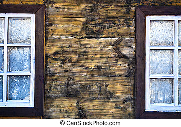 Two windows in the village