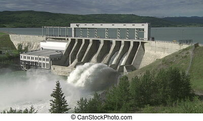 Ghost Dam mw 03 - Hydroelectric Dam and spillway