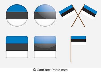 badges with Estonia flag