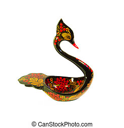 Traditional Russian painted wooden art - khokhloma
