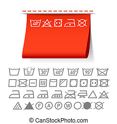 Washing symbols vector illustration