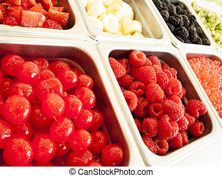 yogur,  toppings, congelado