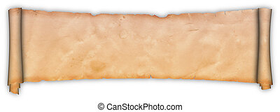 Scroll of parchment. - Antique scroll of parchment on a...