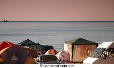 Camping Site by Sea
