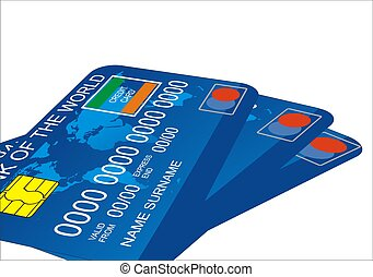 Credit Card - Personal Credit Card on white background